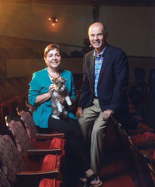 rick and jessica rodgers at the fulton theater