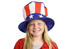 Girl Wearing a Patriotic Hat