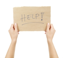 Holding a Help Sign
