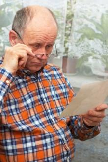 Man Looking at Pension