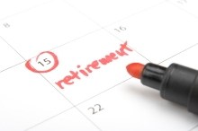 Retirement Date Circled on Calendar