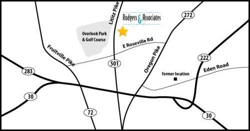 Map of Rodgers & Associates Location